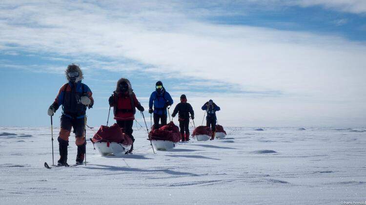 Die Expedition Auf Dem Weg Zum Su Dpol