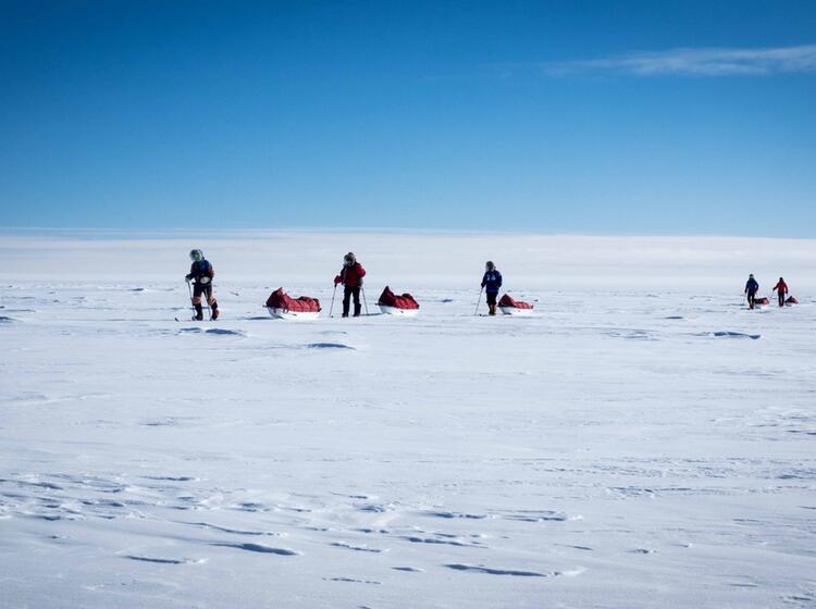Die Expeditionsgruppe Auf Dem Weg Zum Su Dpol