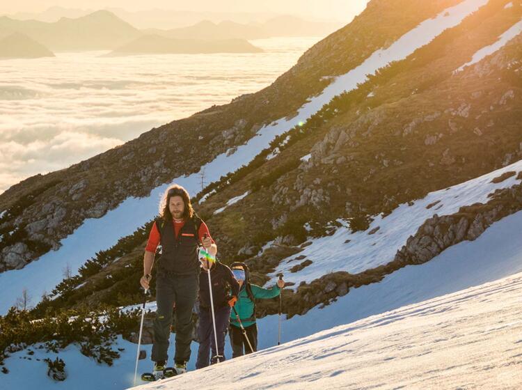 Die Grosse Reibn Mit Bergfuehrer Auf Dem Weg Zum Schneibstein