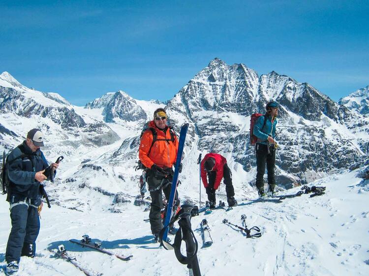 Die Haute Route Ist Eine Skidurchquerung Quer Durch Das Wallis Vom Mont Blanc Zum Matterhorn