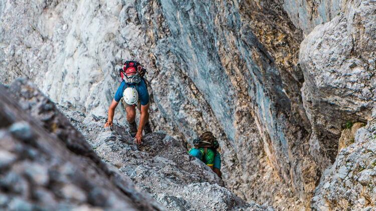 Die Kletterei In Der Hochwanner Nordwand Mit Bergfuehrer