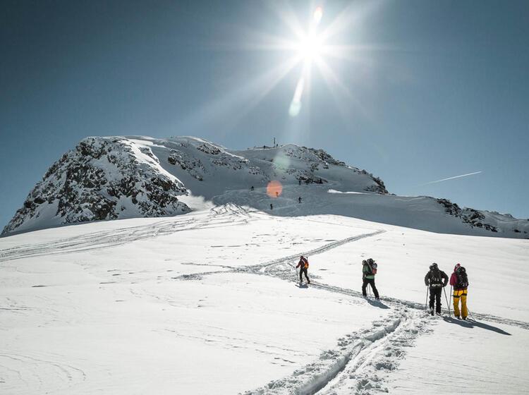 Die Letzen Meter Zum Skitourengipfel Hintere Jamspitze