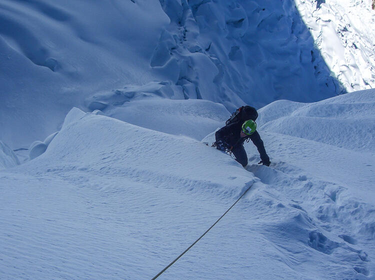 Die Letzten Meter Zum Gipfel Des Alpamayo In Peru
