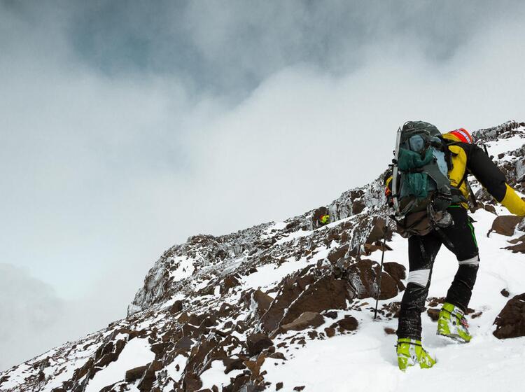 Die Letzten Meter Zum Toubkal Bei Der Skitourenreise Mit Bergfu Hrer