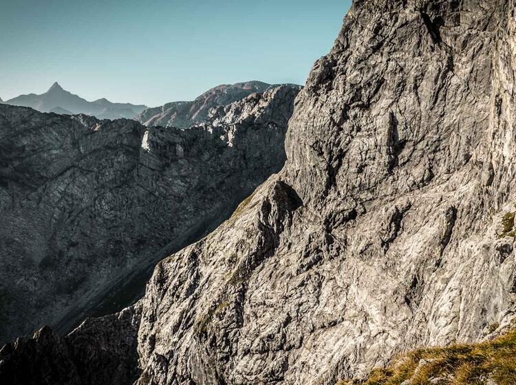 Die Schoenfeldspitze Aus Der Watzmann Ostwand Gesehen