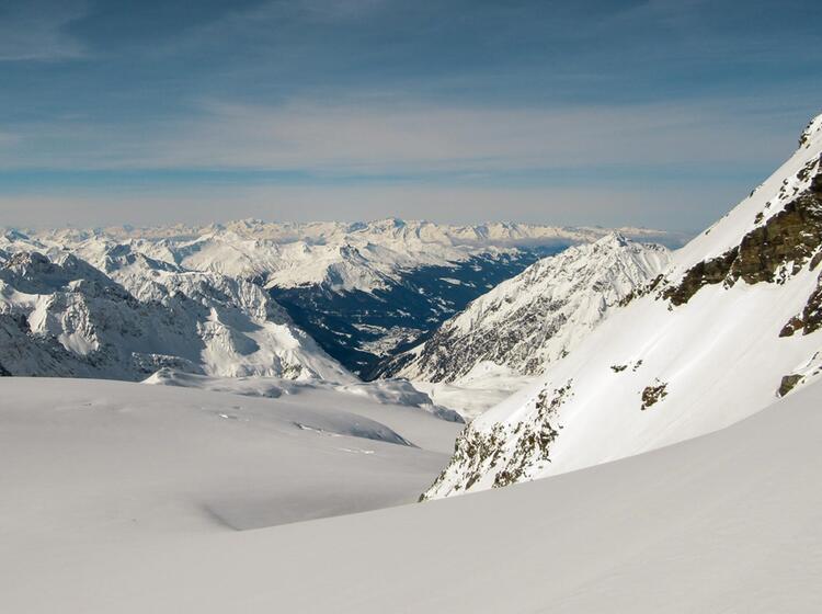 Die Silvretta Auf Der Schneeschuh Durchquerung