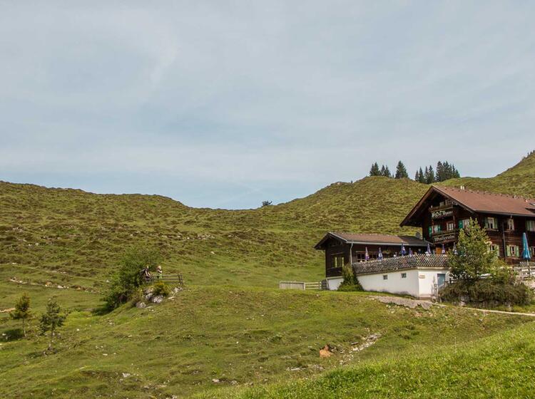 Die Walleralm Auf Der Wanderung Kaiserkrone In Tirol