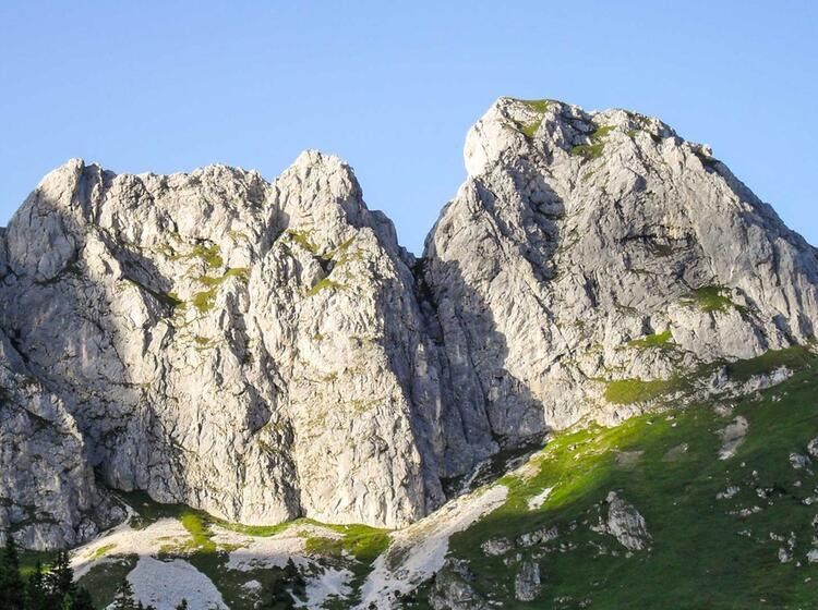 Die Zwergenwand Gesehen Auf Der Wanderung Im Allgaeu Tannheimer Tal