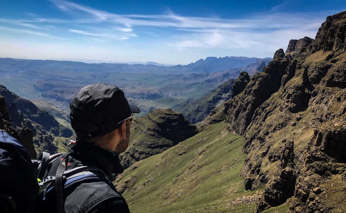 Drakensberge Hiking Abstieg