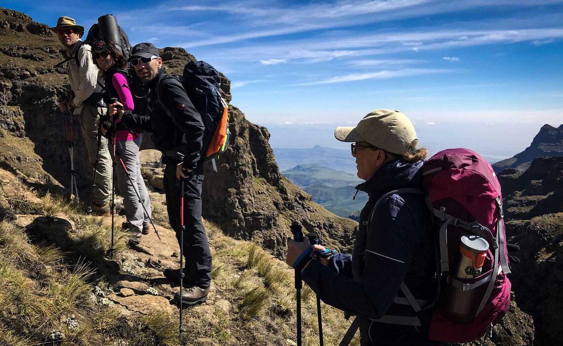 Drakensberge Hiking Cathedral Peak