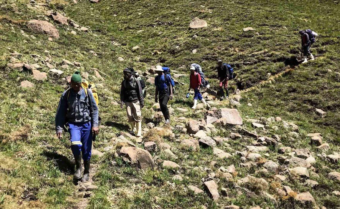Drakensberge Porter Abstieg