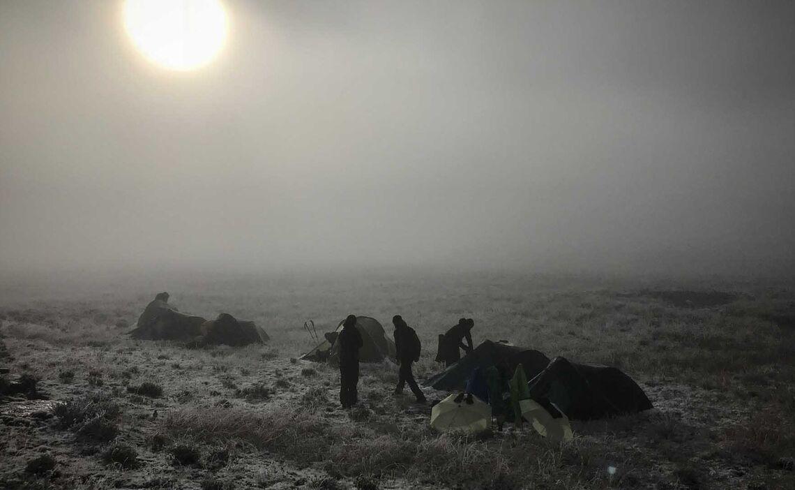Drakensberge Schnee