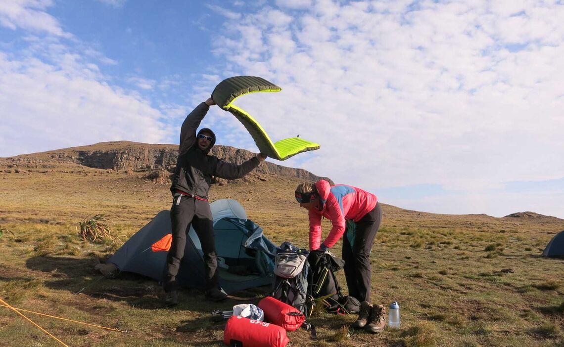 Drakensberge Zeltabbau