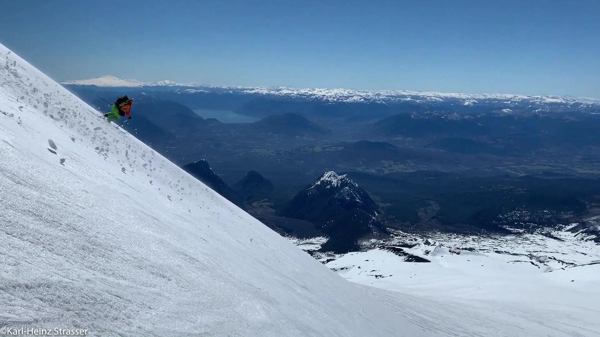 Ivo Meier auf Skitour in Chile