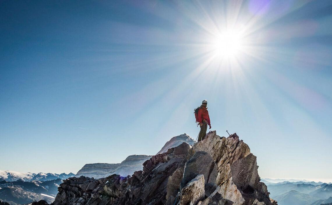 Einfache Kletterei Im Wallis Auf Hochtour