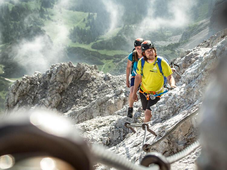 Einsteiger Klettersteig Alpspitze Ferrata