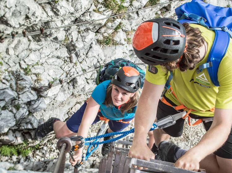 Einsteiger Klettersteig Via Ferrata Alpspitze