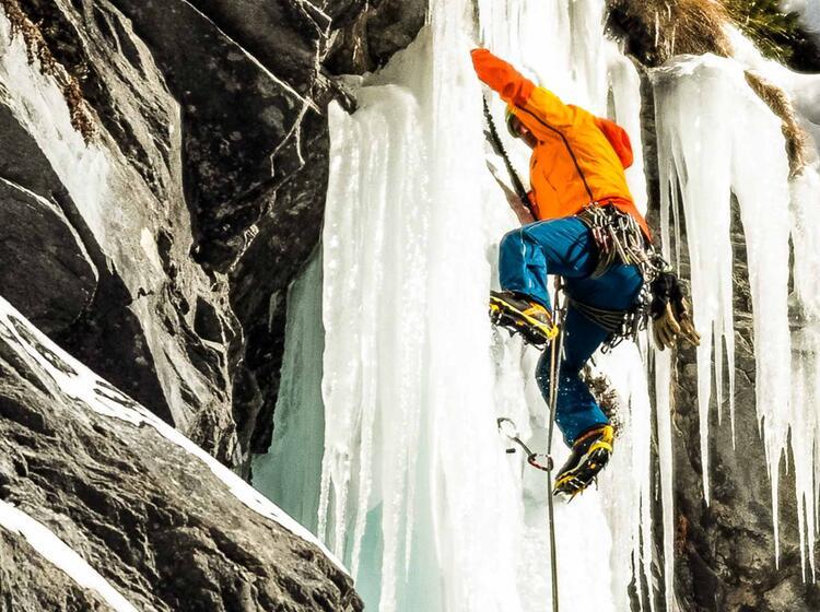 Eisklettern In Der Schweiz Mit Bergfuehrer