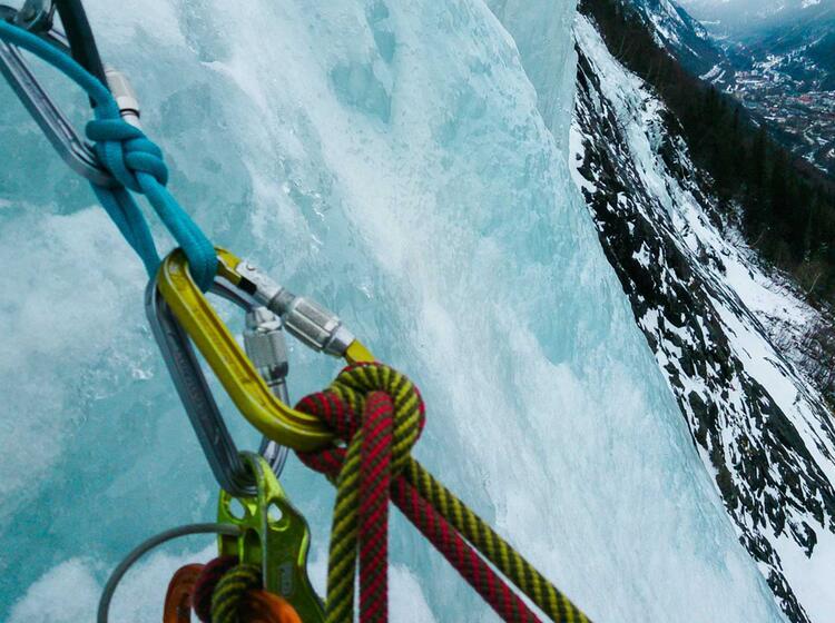 Eisklettern U Ber Der Stadt Von Rjukan Norwegen