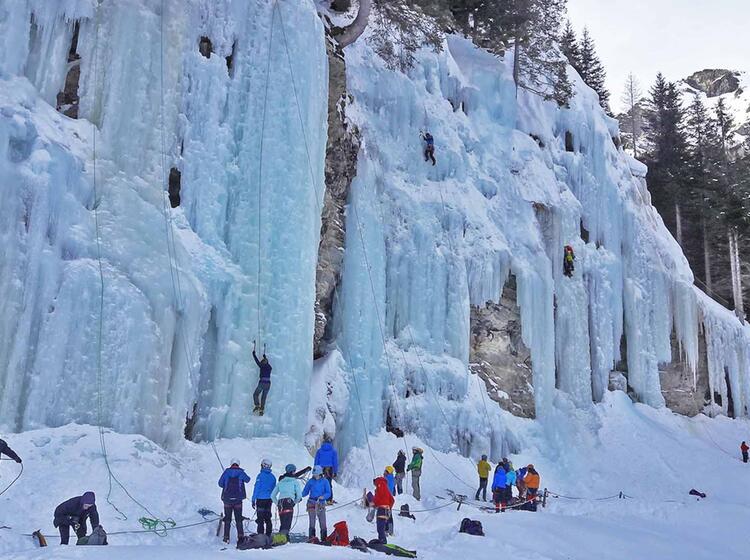 Eiskletterpark Osttirol Eisfaelle