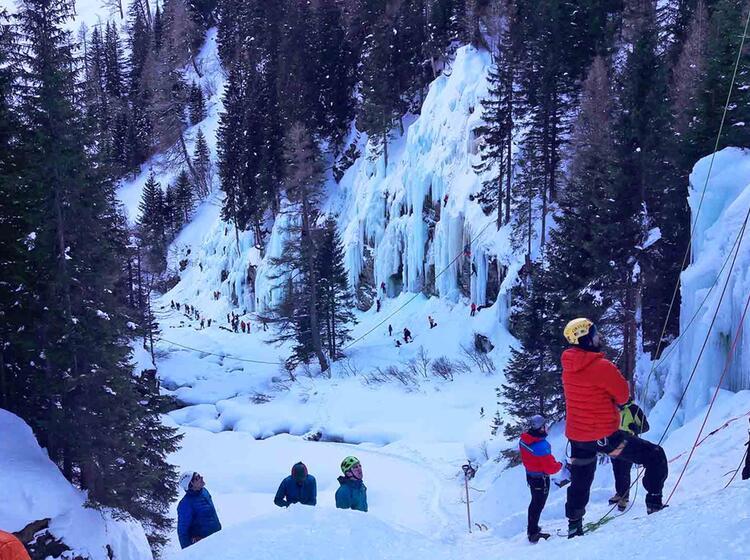 Eiskletterpark Osttirol Eisklettern