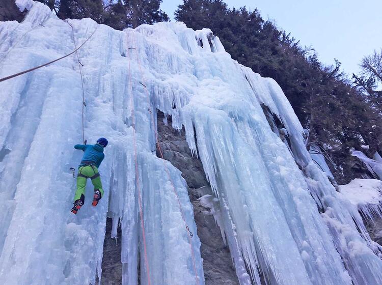 Eiskletterpark Osttirol Eistechnik