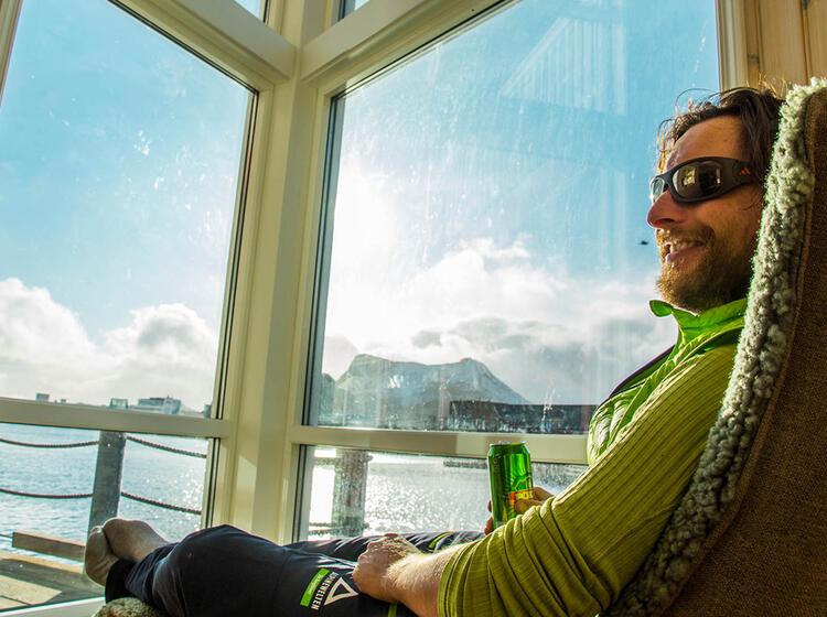 Entspannen Auf Der Schneeschuhtour Lofoten