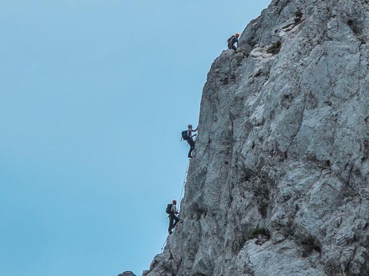 Exponierter Pindigner Klettersteig Am Staufen