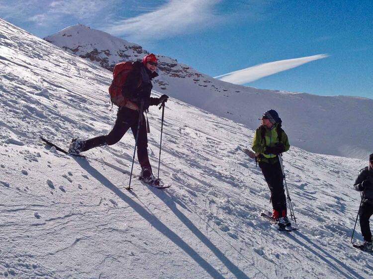 Fanes Naturpark Schneeschuhtouren In Den Dolomiten