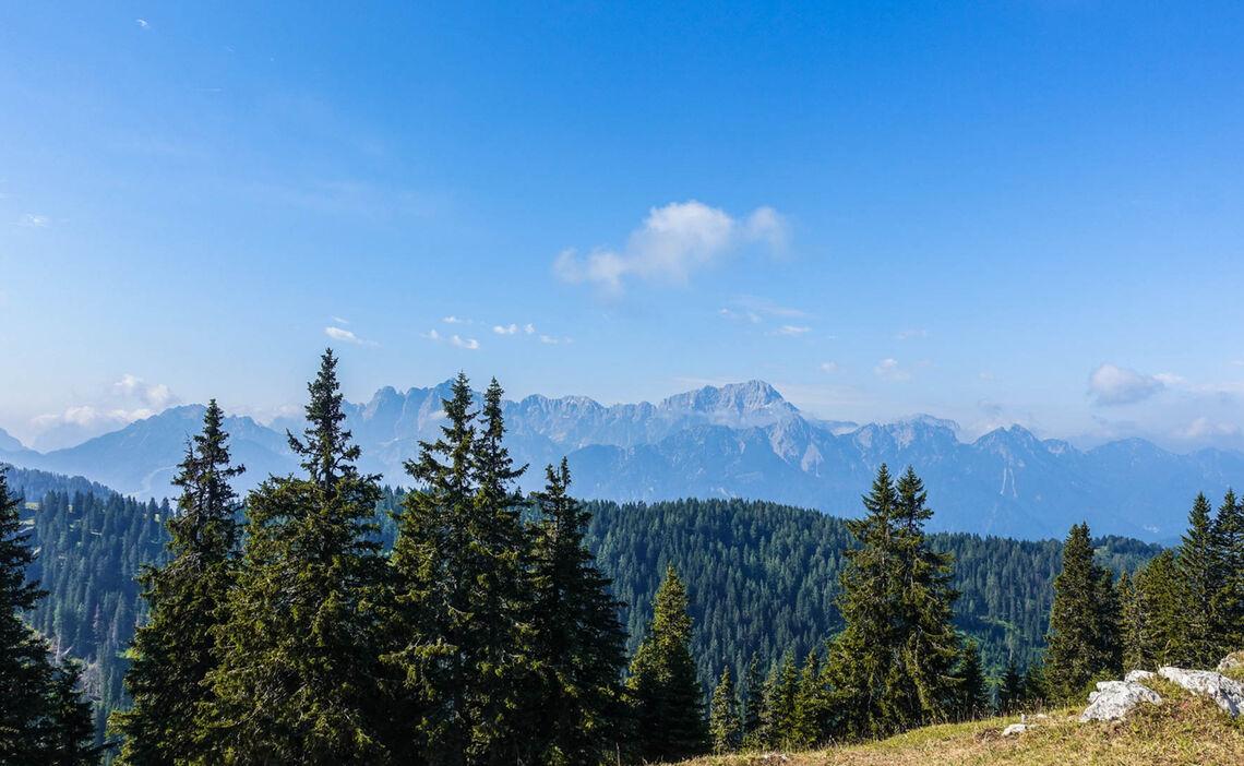 Fernsicht Auf Die Julischen Alpen