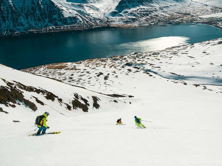 Firn Genuss Auf Island Bei Der Skitourenwoche