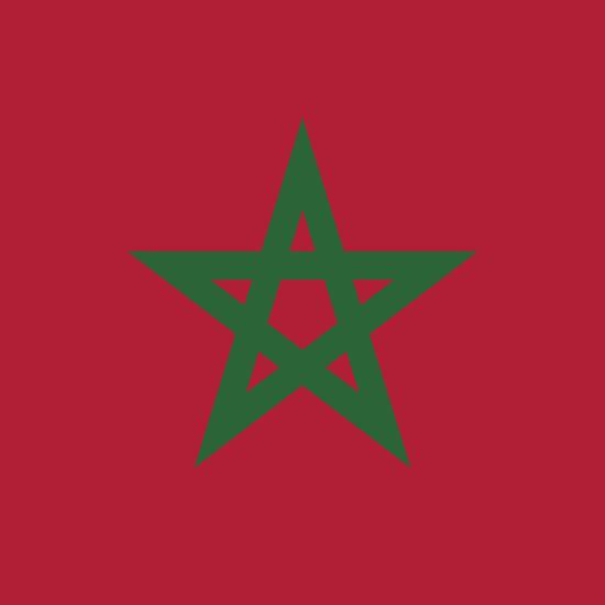 Flagge Marokko
