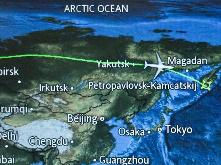 Flug Von Muenchen Nach Petropavlovsk Zur Skitourenwoche Kamtschatka