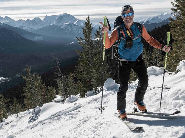 Fruehjahrsverhaeltnisse In Kanada Beim Skitouren Gehen
