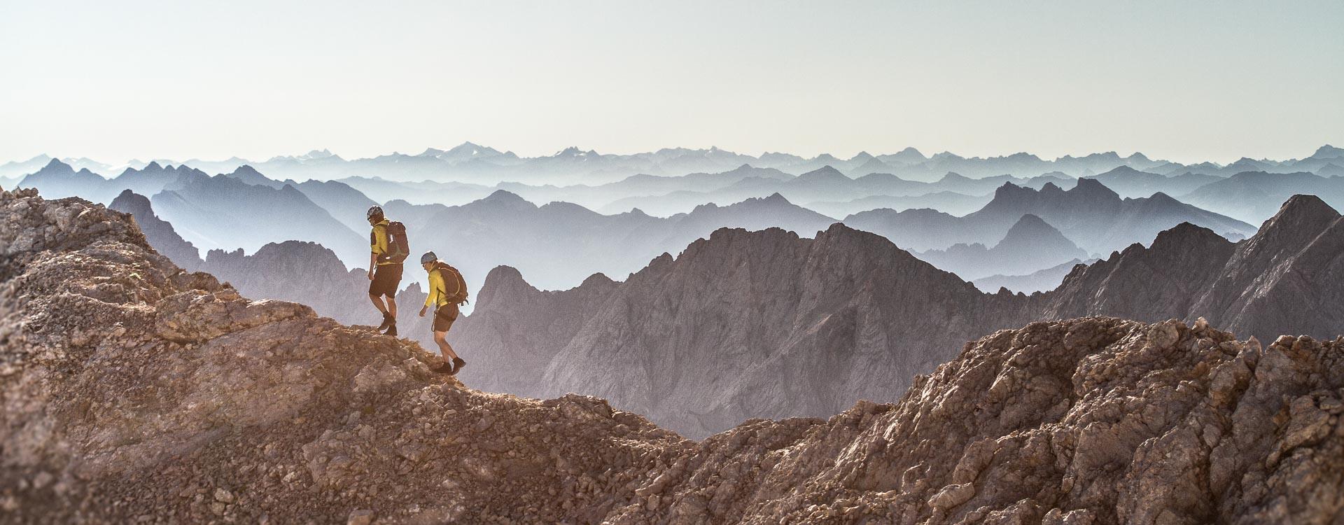 Fuehrung ueber den Jubi Grat auf die Zugspitze