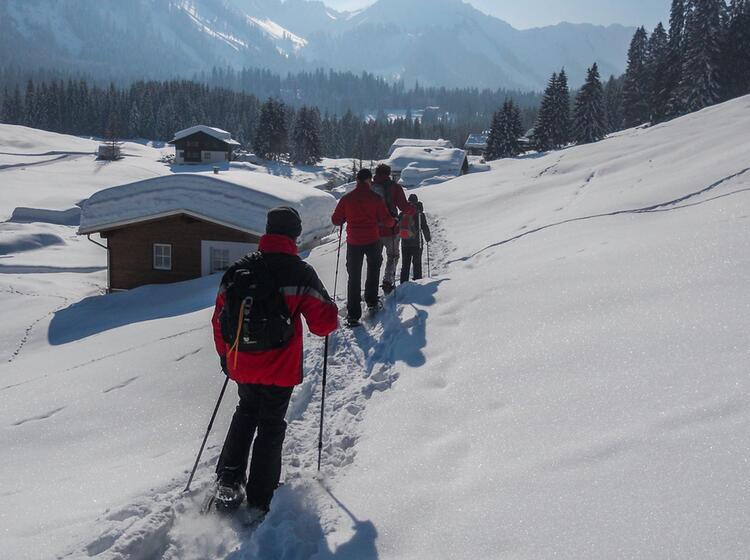 Gefu Hrte Schneeschuhtouren Im Kleinwalsertal