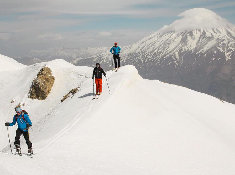 Gefu Hrte Skitour Zum Damavand Im Iran