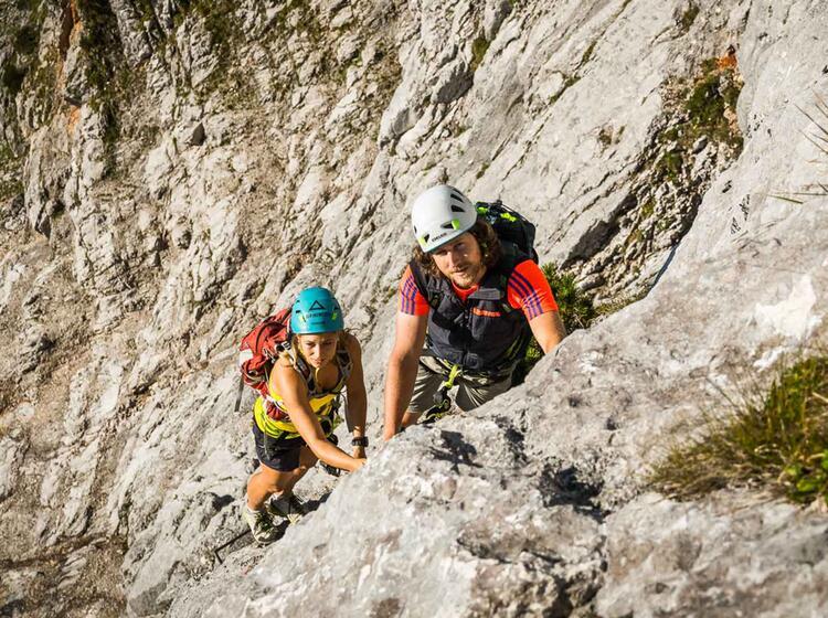 Gefuehrte Klettersteige