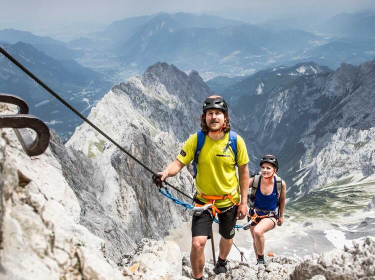 Gefuehrte Klettertour Auf Die Zugspitze