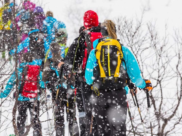 Gefuehrte Schneeschuhwanderung Lofoten