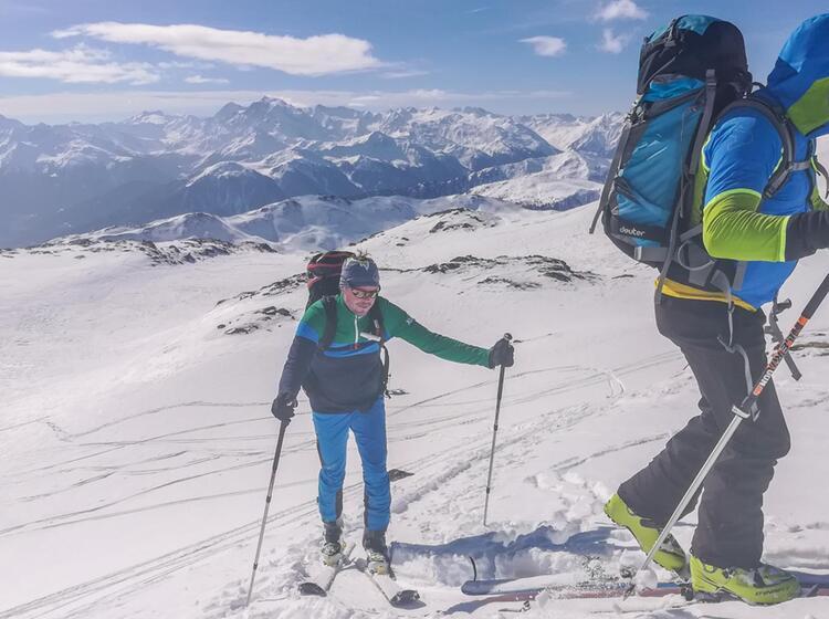 Gefuehte Skitouren Im Vinschgau Auf Die Sesvenna Huette