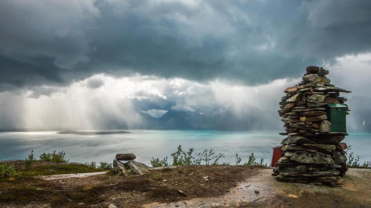 Gigantischer Stimmungswechsel In Norwegen Im Lyngenfjord