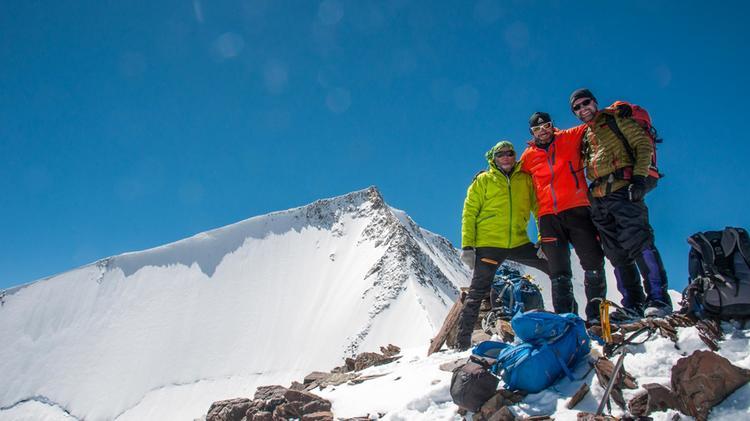 Gipfel Am Trekking Ladakh Im Hintergrund Der Tso Yongo