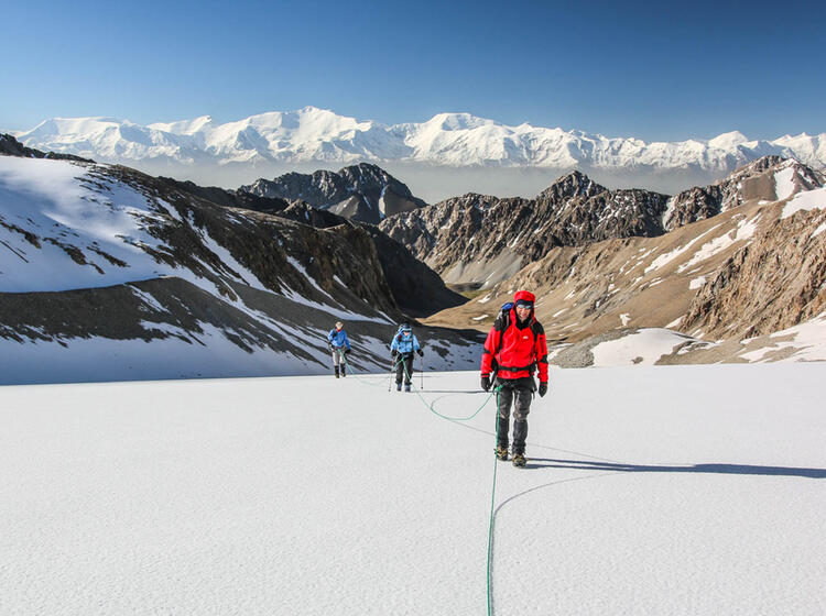 Gipfel Besteigung Und Trekking Am Pik Lenin In Kirgistan