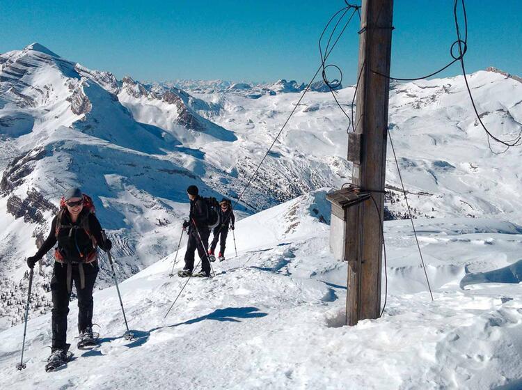 Gipfel In Der Fanes Fu R Schneeschuhe Und Skitourengeher
