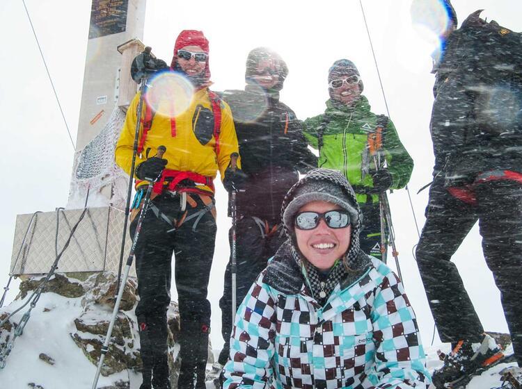 Gipfel In Der Silvretta Schneeschuhtour