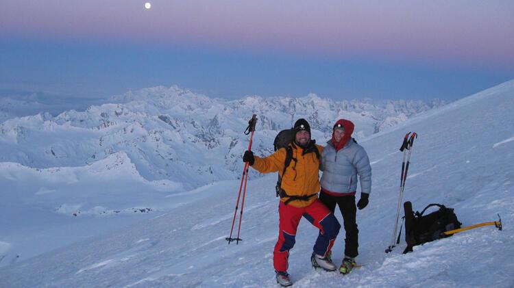 Gipfelanstieg Mit Tourenski Zum Elbrus