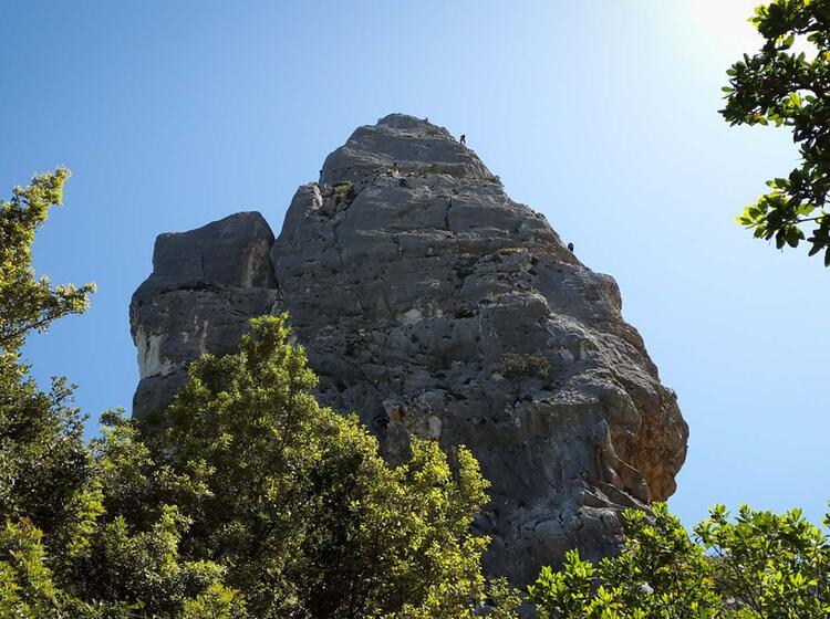 Gipfelbereich Der L Aguglia Goloritze Segeln Klettern Auf Sardinien 3