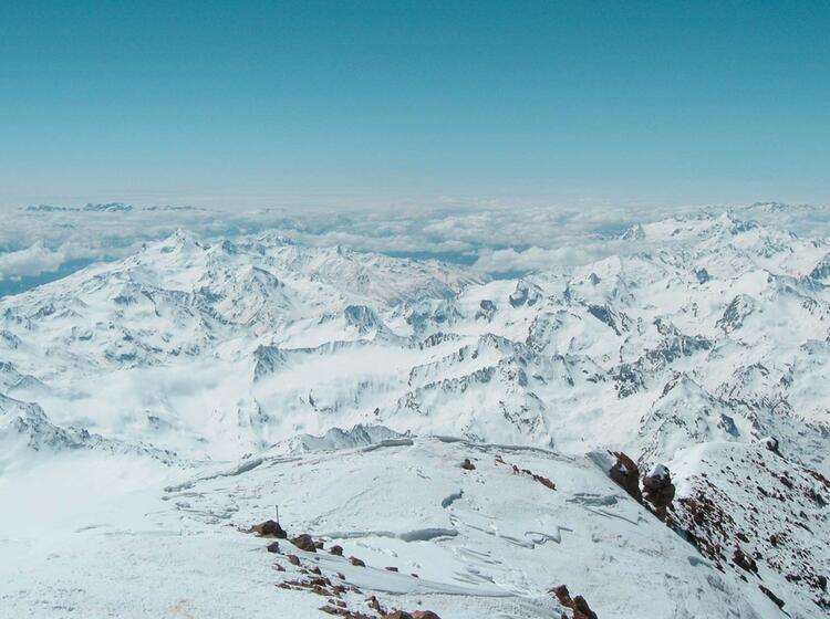 Gipfelblick Vom Elbrus