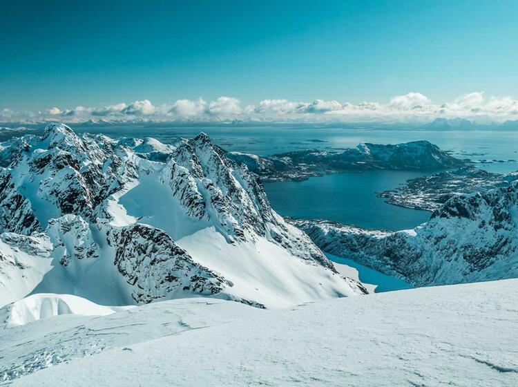 Gipfelblick Vom Geitgaljartind Auf Den Lofoten